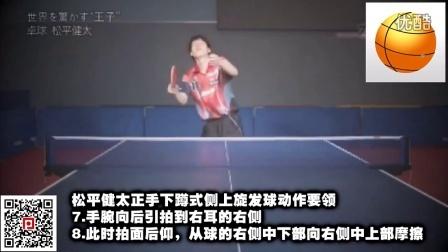 《国家队教学》第2集:松平健太下蹲式发球技术_乒乓球教学视频教程