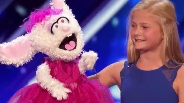 闭着嘴都唱得比我好听!小女孩上选秀节目用腹语唱歌