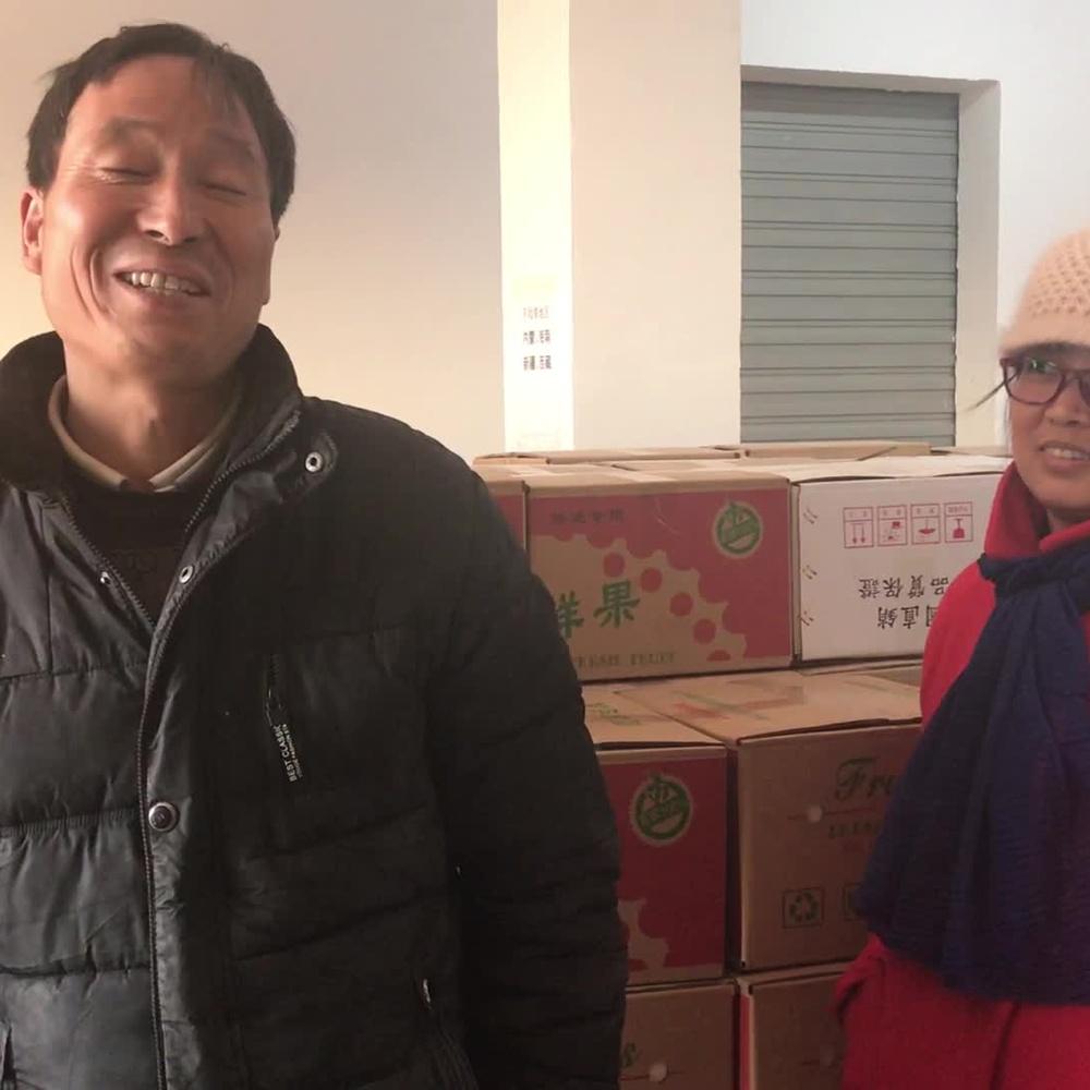 咸阳:乾县果农网络自销苹果,最高峰日发苹果快递1万箱