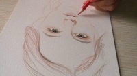 清新少女系列彩铅素描1-3