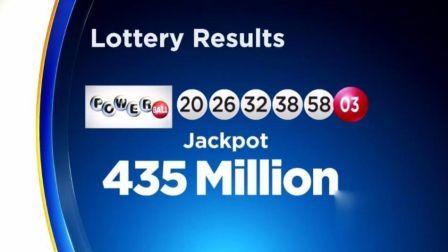 美国加州幸运儿 独得4.48亿美元彩票大奖