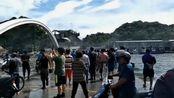台湾南方澳大桥崩塌现场:车翻桥垮船压沉