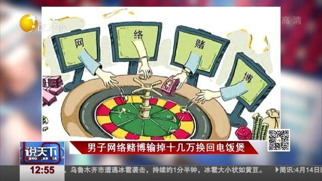 男子网络赌博输掉十几万换回电饭煲
