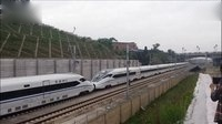 火车视频集锦【鉄道】走近成渝高铁【内江北站外】