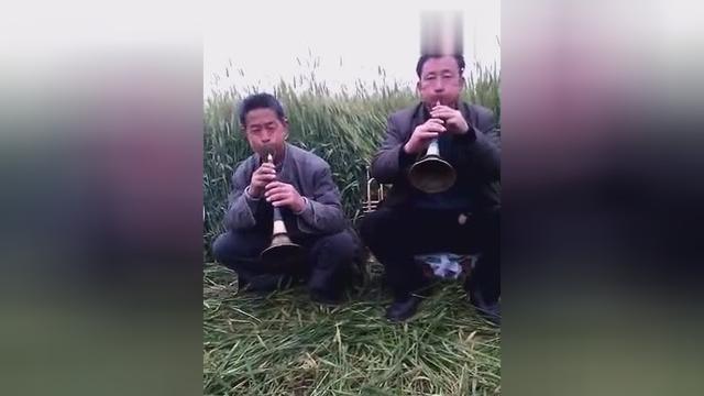 咸阳彬县民间艺人吹唢呐