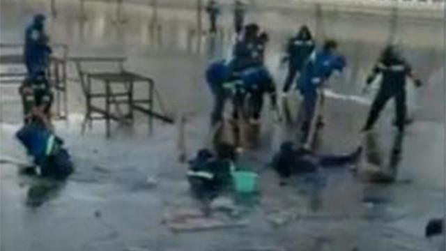 突发!北京后海冰面破裂 多名冰场工人落水