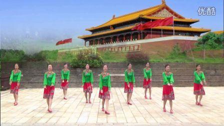 赣州国际时代广场舞队《站在草原望北京》编舞:王梅.团队版