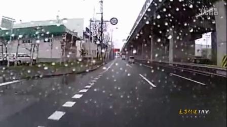 """蒙迪欧""""强攻""""公交车"""