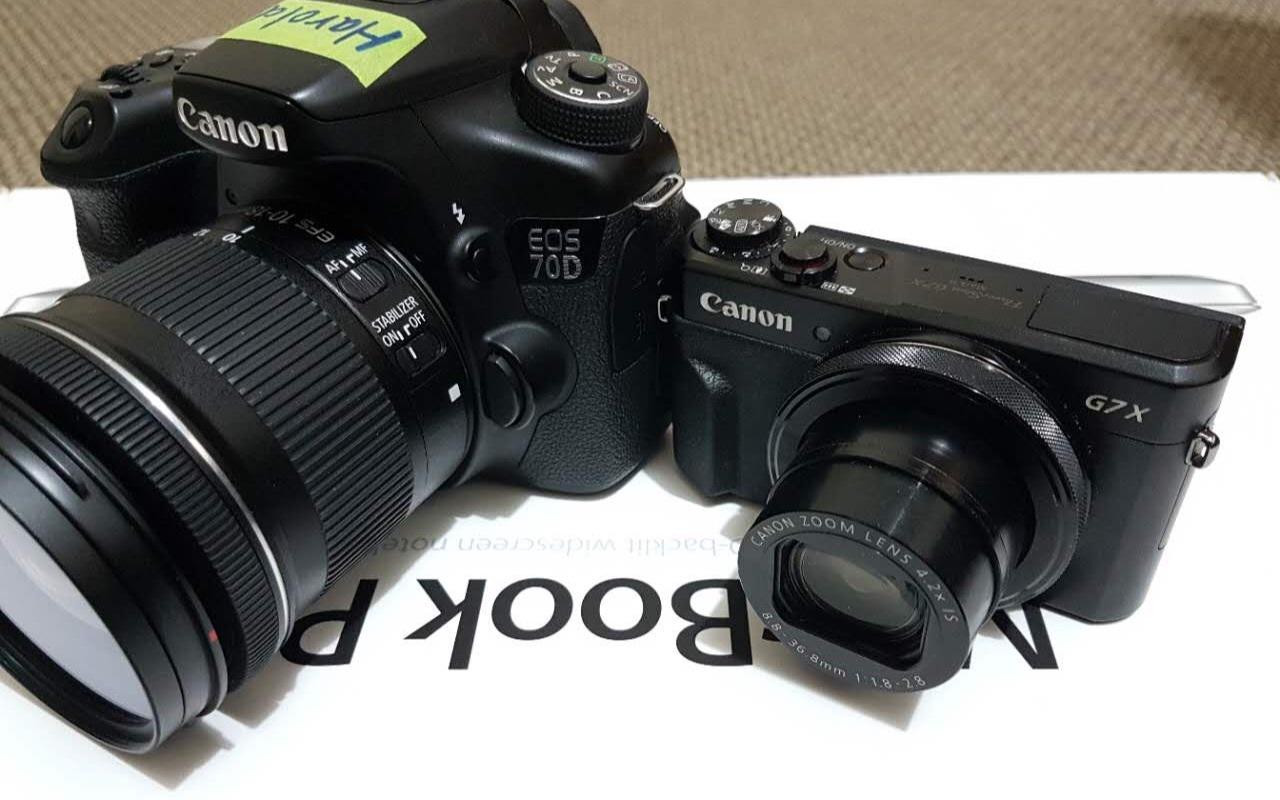 佳能 Canon G7x mark ii 对比 70D