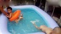 儿童游泳视频'温智涵vs王钰'1