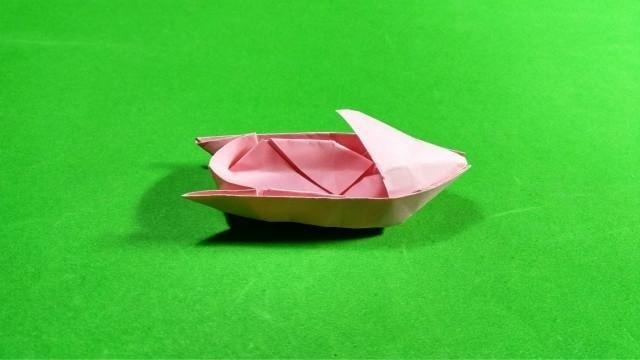 你知道这叫什么船吗 手工折纸摩托艇冲浪倍爽