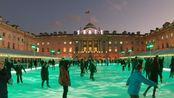 【超清英国】漫步伦敦 特拉法加广场圣诞集市-萨默赛特宫滑冰场 2019.12