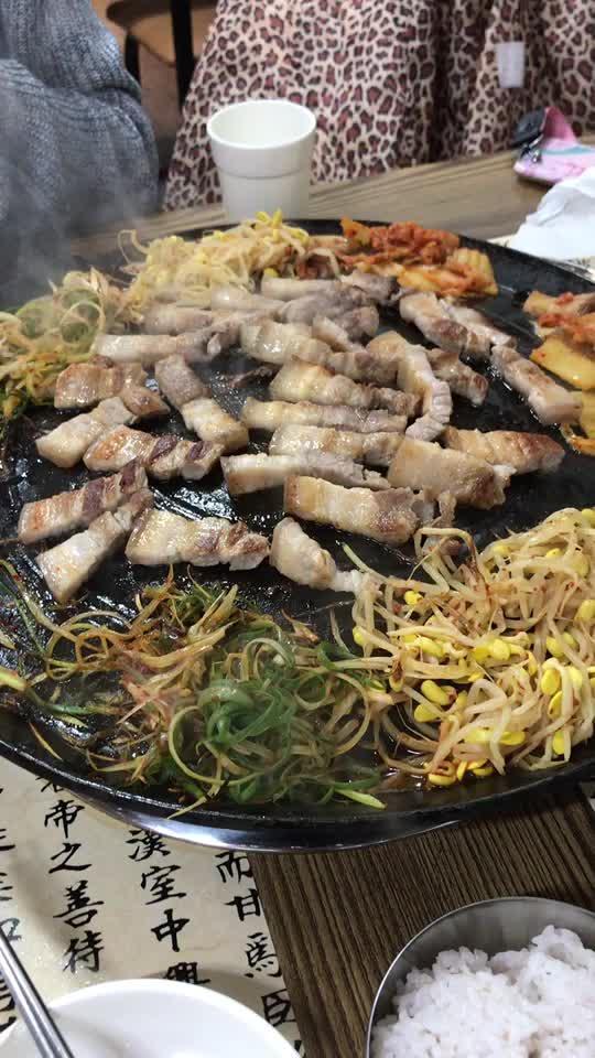 济州岛的黑猪肉…