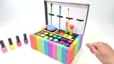 儿童早教益智玩具DIY太空沙彩色积木搭建彩妆化妆箱