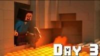 我的世界动画: 史蒂夫挖矿到了世界另一端, 遭遇了这一幕