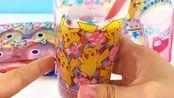日本食玩宠物小精灵皮卡丘冒泡啫喱汽水饮品