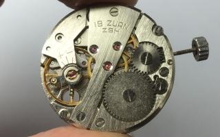 上海7210机芯拆解 19钻机芯 上海统机
