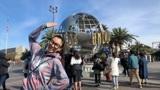 姚竹早早打卡加州洛杉矶环球影城主题乐园,从木乃伊过山车玩起