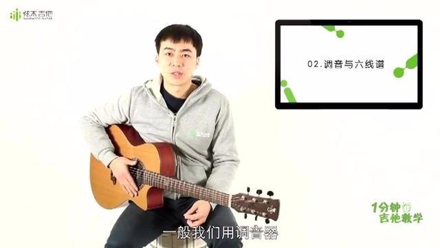 《1分钟吉他教学》调音与六线谱