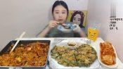 章鱼海鲜葱饼 【韩国吃播非兰 (kagoai0830) 】 盖饭吃播门