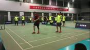 业余羽毛球教练PK赵剑华、杨阳两位退役世界冠军,结果被吊着打