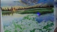 【又画】彩铅画教程-花海-ps手绘插画