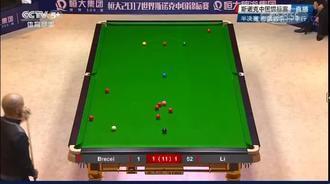 斯诺克中国半决赛:布雷切尔进攻迅速,以进为退真是机智