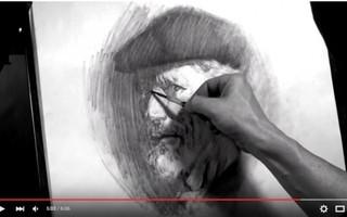 美国当代艺术家杰弗里·r·瓦茨 Jeffrey R. Watts 绘画展示----素描头像 (油管搬运)