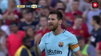 国际冠军杯:曼联VS巴萨 内马尔率先攻破曼联大门