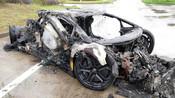 【浙江】600万兰博基尼高速上烧成废铁!车子还是借的