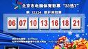"""视频: 北京市电脑体育彩票""""33选7""""第12324期开奖结果[天天体育]"""
