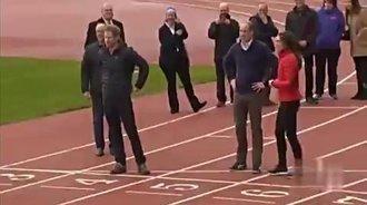 威廉王子携手凯特王妃助阵马拉松训练日
