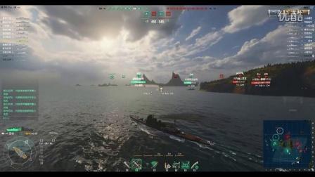 【WOWS】战舰世界LOD解说 双峰海峡爱宕一人...