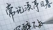 【手写】李清照一个爱喝酒的可爱女孩子,她是真的喝醉了,还是被身边的美景陶醉了呢?