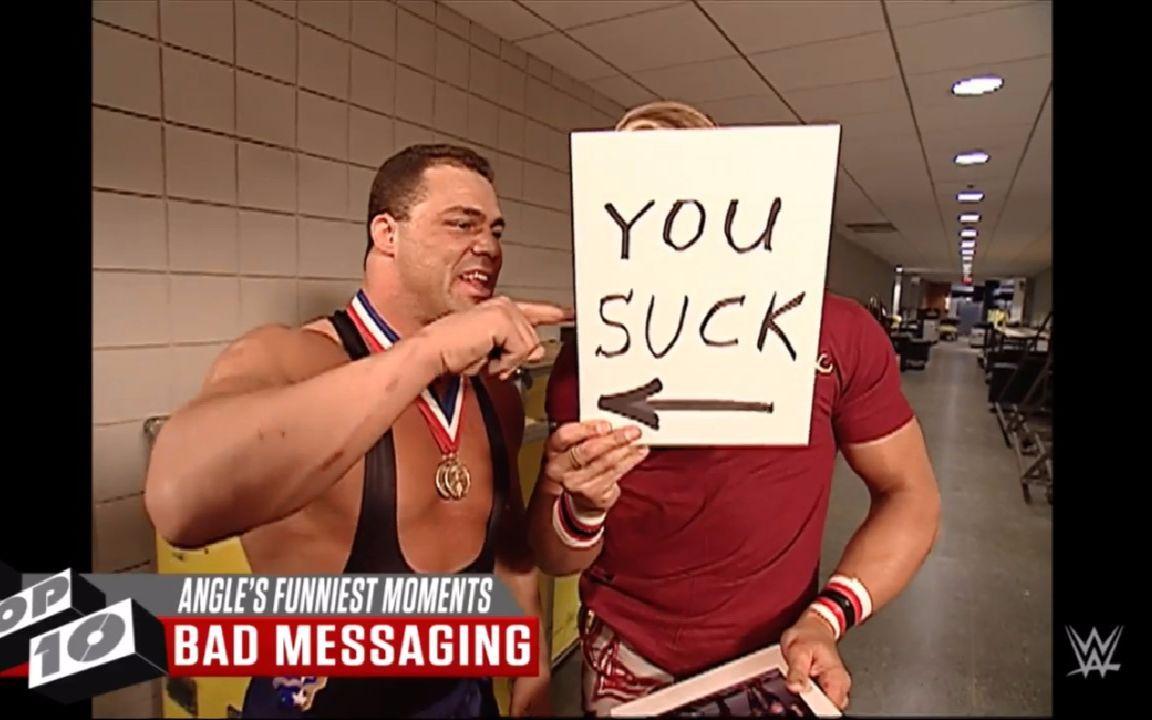 WWE Top 10 奥运冠军科特.安格十大搞笑时刻