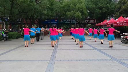 《演跳春英广场舞《列车奔驰在青藏高原》 表演 团队版》舟山海山广场舞队