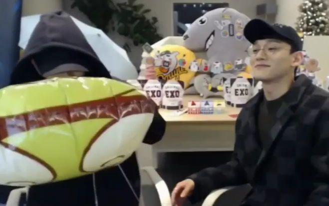 1216 EXO 边伯贤Baekhyun+Chen英雄联盟超级明星联赛