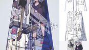 国内首个ヨルシカ同人企划!曲绘绘画过程【僕と音楽/yorushika印象画集】