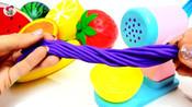 水果蔬菜玩具,橙子西红柿香蕉西瓜,面条机,儿童玩具,亲子互动