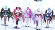 MMD:【TYPE2020L着物風(Kimono style) Miku Teto Luka Gumi IA】