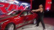 WWE RAW 2015.7.6 Brock Lesnar 现场砸毁价值三十多万的凯迪拉克