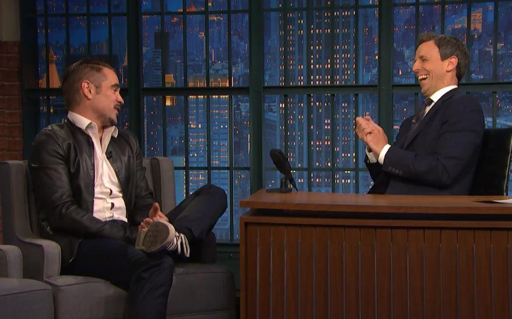 【双语熟肉】科林法瑞尔 做客赛金花深夜秀 Seth Meyers 暗中是囧爹的迷弟一枚