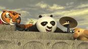 功夫熊猫2:满城狼兵阿宝搞笑潜行,这舞龙耍得满地狼!