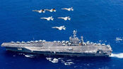 美公布最新影像:航母逼近伊朗,舰载战斗机密集出动