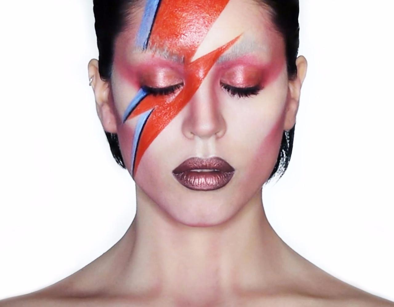 Claire Dim | 大卫鲍伊Aladdin Sane仿妆 David Bowie Makeup Tribute