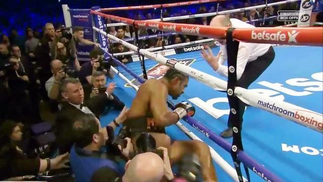 向来嚣张的大卫海耶此战被击出了拳台!托尼贝卢一拳改变了命运