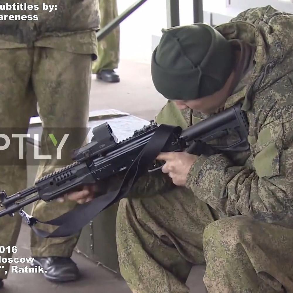 """俄軍測試 """"新""""AK12 (即AK400) 與 A545"""