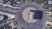 地球视角看巴黎圣母院,卢浮宫,凯旋门