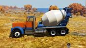 BeamNG:混凝土卡车小康道路上的经典美国小岛地图部分