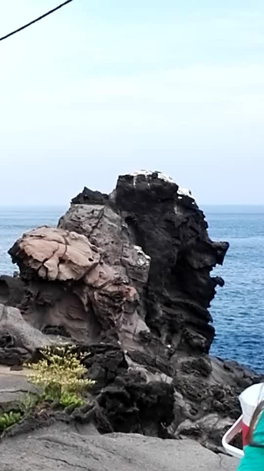 济州岛海边钓鱼